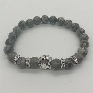 Jewelry - ✨🐾Natural Stone Bracelet With Dog Paw Charm ✨ 🐾